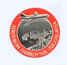 Collectible Airline luggage label Dubrovnik Yugoslavia aerodrom#561